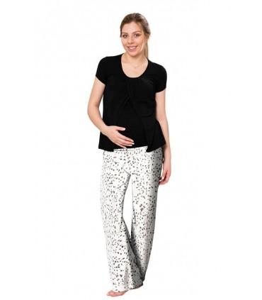 Pijama lactancia polo con pantalón modelo Frida AP